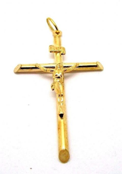 9ct Yellow Gold Large Size Crucifix                                       30332